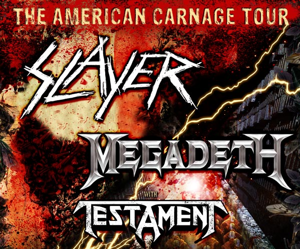 The American carnage tour with Slayer, Megadeth and Testament