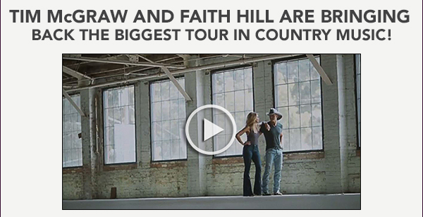 Tim McGraw and Faith Hill are bringing back the biggest tour in country music!