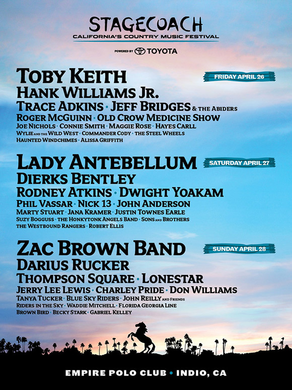 Stagecoach Festival 2013 Lineup Announced & Tickets Info